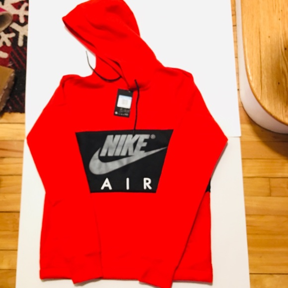 online for sale buying cheap discount shop NIKE Air NSW MEN'S Hoodie Red black Size Medium NWT